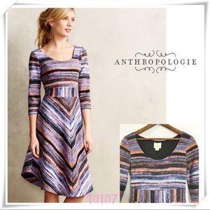 💫 Anthropologie Maeve Purple Kebren Stripe Dress